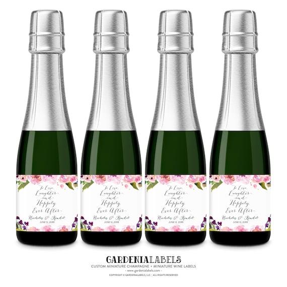 Wedding Favor Mini Champagne Label Mini Wine Bottle Labels Etsy
