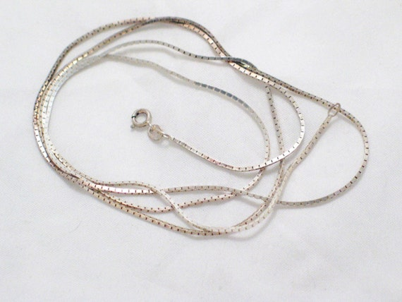 Chain Gang Square Six Sided Box Chain Sterling Silver