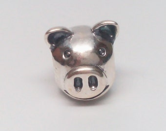 b4cd515aa New Authentic Pandora 925 ALE Pig Head charm bead 790214 Retired