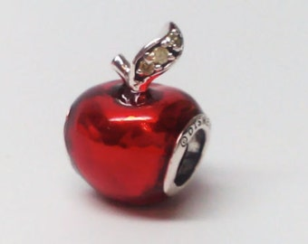48e52d000 New Genuine Pandora Sterling Silver Disney Snow White Apple Charm 791572EN73