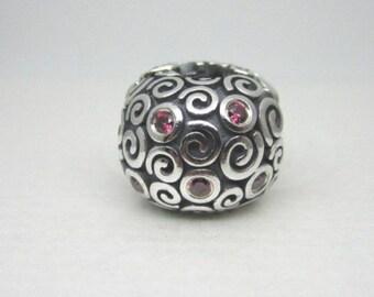 d397e070c NEW Authentic Pandora Sterling Silver Fire Clip charm 790962CZR