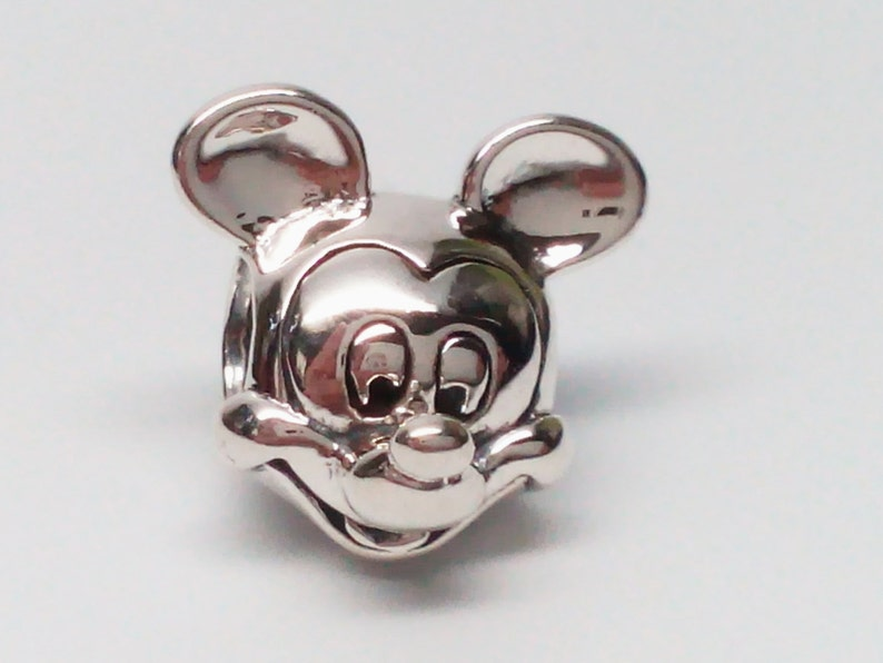 c1cbebb9a NEW Authentic Pandora Sterling Silver Disney Mickey Mouse Head | Etsy