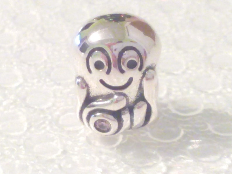 Genuine Pandora Sterling Silver Octypus Charm With A Pink Cz Fashion Jewellery 790447pcz Retired