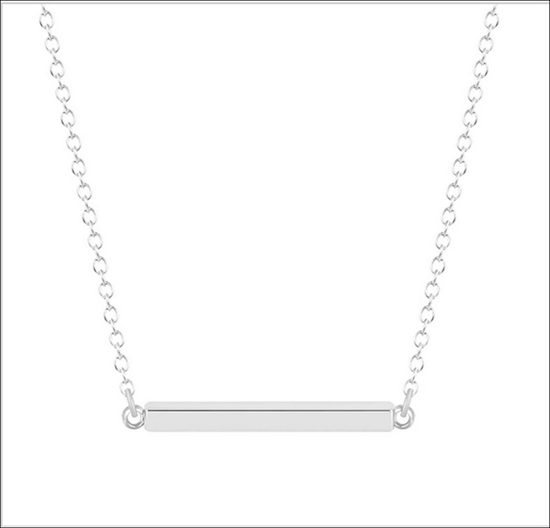 Fashion Gold tiny bar Pendant Necklace