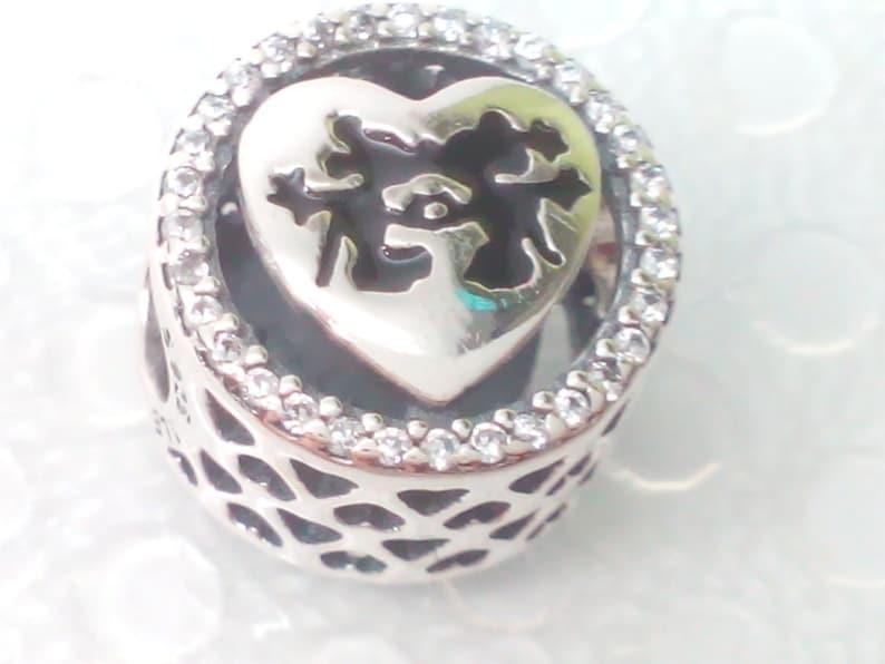 a067a36db NEW Authentic Pandora Disney Mickey & Minnie Love Charm | Etsy