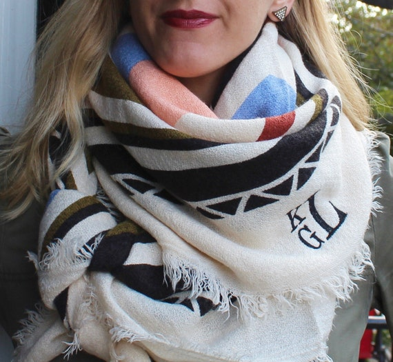 Colorful Geometric/Boho Pattern Blanket Scarf