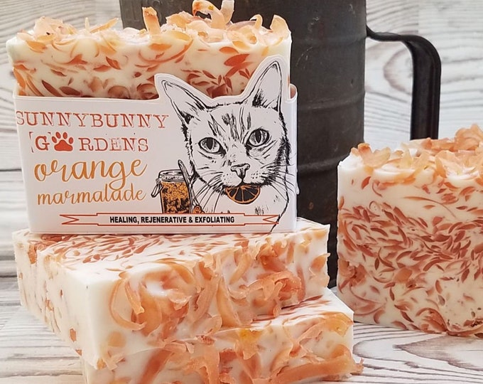 Featured listing image: Orange Soap Bar , Handmade Soap Gift Ideas