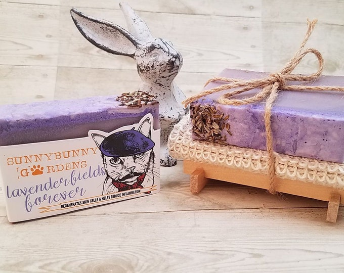 Featured listing image: Handmade Lavender Soap Gift Set,