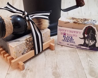 Activated Charcoal Shave Soap Gift Set,