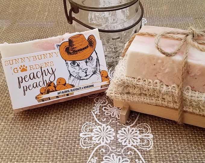 Featured listing image: Peachy Peach Artisan Soap Set | Gentle Soaps | Soap Gift Set | All Natural Luxury Soaps | Teen Girl Gift | Summer Soap