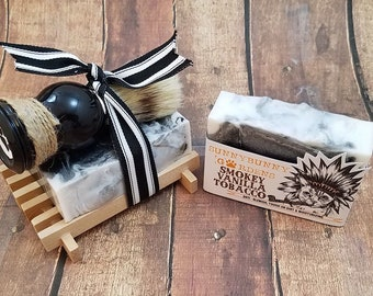 Mens Soap Gift Set, Indian Tobacco and Vanilla Soap Bar, Soap For Men