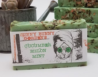 Organic Handmade Mint Soap, Natural Mint Soap