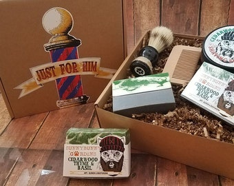 Cedarwood Soap Gift Box, Natural Shaving Soap, Shaving Soap Kit, Mens Shave Kit, Masculine Gift Box, Masculine Soap, Gift For Dad