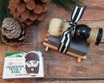 Cedarwood Gift Set, Soap for Men, Gifts for Him, Lumberjack, Woodsy Soap For Guys, Soap For Men, Vegan Soap For Men, Cedarwood Thyme Basil,