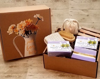 Lavender Citrus Soap Gift Box | Soap Gift Box | Sachet Gift Box | Spa Day | Gift Box for Her | Gift Basket | Relaxation Gift