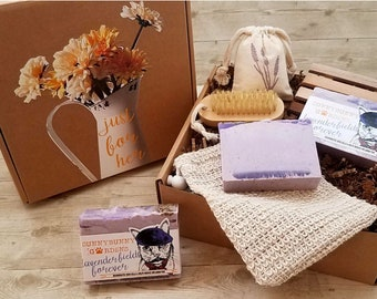 Lavender Fields Forever Soap Gift Box | Soap Gift Box | Sachet Gift Box | Spa Day | Gift Box for Her | Gift Basket | Self Care Gift