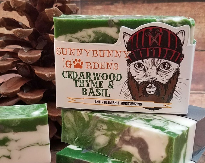 Featured listing image: Cedarwood Soap | Funny Gifts For Men | Vegan Soap