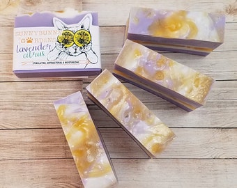 Lavender Citrus Soap Bar | Lavender Vegan Soap | Organic Lavender Orange Soap | Handmade Lavender Soap | Best Body Bar Soap | Lavender Soap