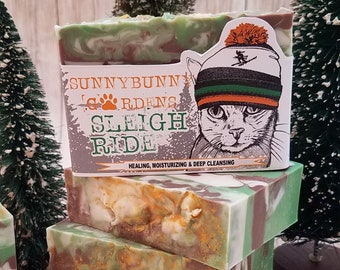 Christmas Soap Bar, Holiday Season Gift Ideas, Stocking Stuffer, Christmas Present Ideas, Sleigh Ride