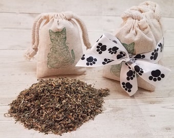 Organic Catnip Sachet Gift Set | Organic Catnip | Gifts For Cats | Holiday Cat Gifts | Cat Toys | Catnip Bag | Catnip Toy | Gifts For Cats
