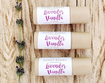 Lavender and Vanilla Lip Balms | Vegan Gift Ideas | Plant Based Skin Care Gift | Sister Gifts | Gift for Wife | Valentines Day Gift Ideas |