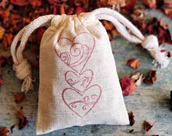 Bulk Rose Sachet Bags, Client Gifts, Scented Wedding Favors, Air Freshener, Rose Petal Sachet, Drawer Sachet, Corporate Gifts,Rose Potpourri