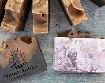Men Tobacco Soap, Charcoal Face Soap, Anti Acne Soap, Tobacco Vanilla Soap, Organic Soap Bar, Natural Skin Care, Men Skin Care, Shave Soap