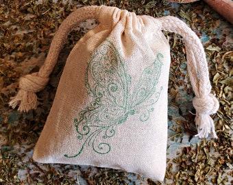 Mint Sachet, Drawer Sachet, Organic Aromatherapy, Mint Potpourri, Bathroom Air Freshener, Scented Sachet