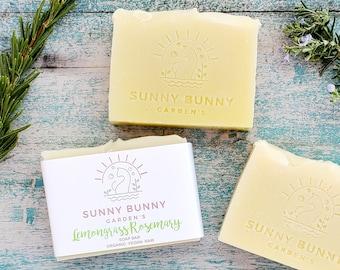 Lemongrass and Rosemary Soap Bar | Organic Lemongrass Soap | Teacher Gifts | Gifts for Women | Grandma Gifts | Easter Gift Ideas | BFF Gift