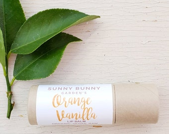 Orange + Vanilla | Organic | Lip Balm | Vegan | Moisturize