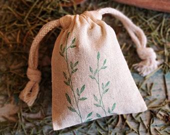 Rosemary Sachet Bags in Bulk, Wedding Favors, Aromatherapy Sachets, Corporate Gift Favors, Dried Organic Rosemary, Air Freshener Sachet