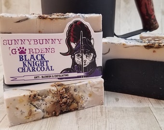 Lavender Sage Soap, Activated Charcoal Soap,
