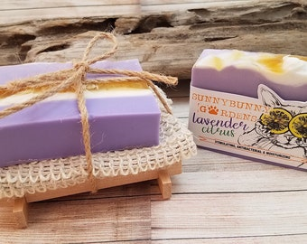 Lavender Citrus Soap Gift Set, Gifts For Her, Holiday Presents, Girlfriend Gifts, Handmade Gifts, Artisan Soaps,