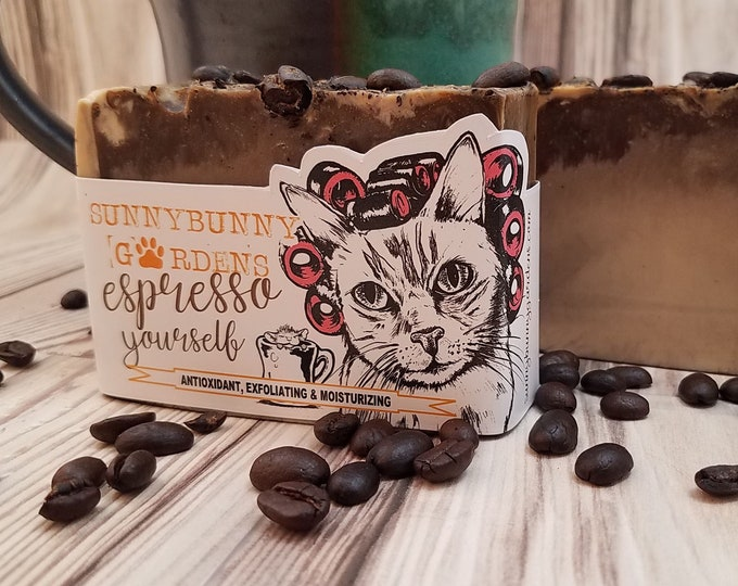 Featured listing image: Espresso Yourself Activated Charcoal Soap | Coffee Lover Gift | Coffee Addict