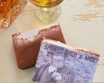 Mens Soap | Birch Soap | Best Smelling Mens Soaps | Gifts For Him Dad Grandpa Brother | Amber Soap | Masculine Soap Bar | Vegan Soap for Men