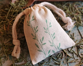 Rosemary Sachet | Herb Sachet, Natural Air Freshener, Wedding Favors, Dresser Sachet, Chef Gift, Bridal Shower Favors, Home Fragrances Bag