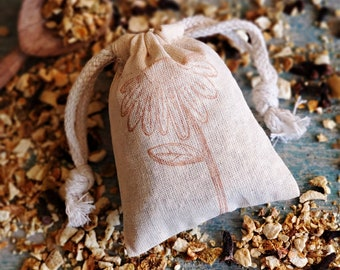 Orange Clove Sachet, Drawer Sachet, Scented Sachet, Laundry Sachet, Natural Air Freshener, Wedding Favors, Small Gifts, Potpourri Sachet