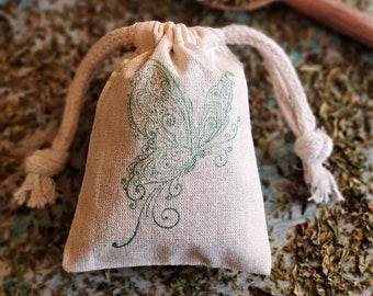 Mint Sachets in Bulk, Peppermint Sachet Bags, Drawer Sachets, Wedding Favors, Laundry Herb Sachet, Bridal Shower Favors, Potpourri Bags