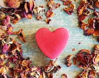 Red Heart Soaps, Wedding Party Favors, Organic Soaps, Handmade Soap Favors, Mini Soaps, Guest Favor Soaps, Rose Soaps, Bridal Shower Favors