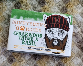 Cedarwood, Thyme and Basil Soap | Kids Gifts | Soap for Boys