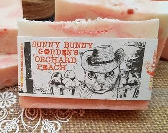 Peach Soap, Gifts For Her, Himalayan Salt Soap Bar, Moisturizing Bar Soap, All Natural Peach Soap, Organic Peach Soap, Handmade Soap,