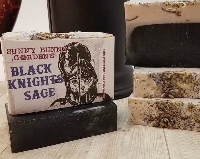 Featured listing image: Lavender Sage Soap, Activated Charcoal Soap, Mens Soap, Acne Soap, Organic Lavender Soap, Boys Soap, Sage Soap, Lavender Soap, Soap For Men