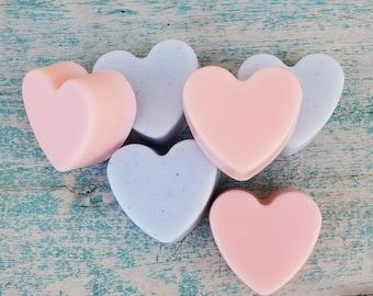 10pc Soap Favors | 100 pc Soap Favors | Mint Mini Soap Favors In BULK | Baby Powder Heart Shaped Soaps | Baby Shower Favors In Bulk