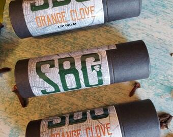 Orange Clove Lip Balm, Mens Lip Balm, Winter Lip Care, Organic Cosmetic For Men, Men Self Care, Mens Chapstick, Dry Lips, Winter Skin Care