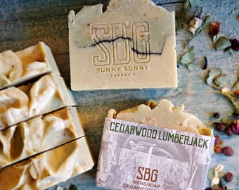 Men Cedarwood Soap, Handmade Soap Bar, Organic Skin Care, Thyme Basil Soap, Artisan Soap Bar, Deep Cleansing Soap, Facial Soap Bar, Vegan
