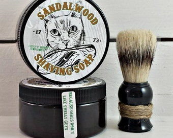Sandalwood Shave Soap | Gift For Dad | Wet Shaving