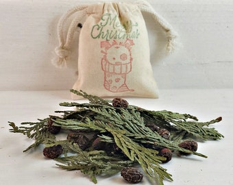 Holiday Scented Herb Sachet, BULK Christmas Stocking Stuffers, Xmas Scented Potpourri, Xmas Aromatherapy, Holiday Party Favor Bags, Cute