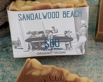 Sandalwood Bar Soap | For Him Dad Hubby Friend Rustic | Relax | Clean | Organic | Vegan