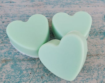 Cucumber Melon Soap Favors | Mini Soaps | Mini Soap Favors | Heart Shaped Soaps | Bridal Baby Wedding Favors | Shower Favors | Guest Soaps