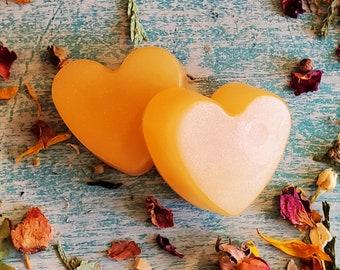 10 - 100 pc Bulk Mini Soap Favors, Champagne Mini Soaps, Bridal Shower Favors, Heart Shaped Soaps, Skin Care, Wedding Favors